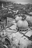 San Marco from atop of the Campanile:Black and White Photo-158