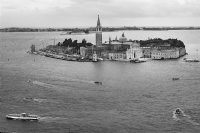 Italy Venice - View from atop of the Campanile:Black and White Photo-159