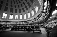 The British Museum, The Reading Room, London:Black and White Photo-178