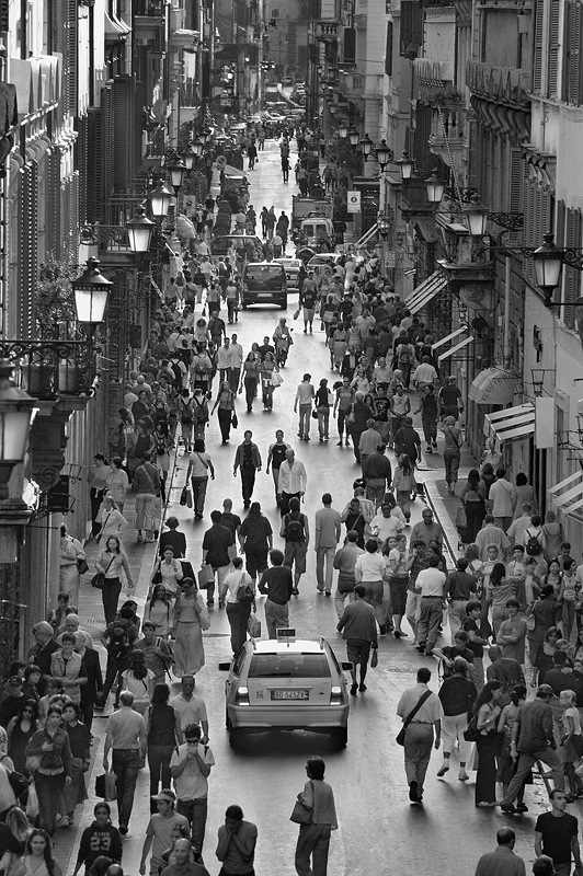 Italy Rome:Black and White Photo-161