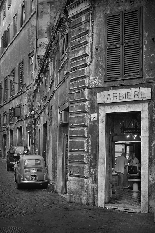 Italy Rome:Black and White Photo-162