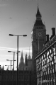 Big Ben, London:Black and White Photo-103