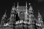 Westminster Abbey London:Black and White Photo-87
