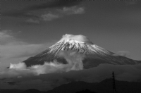 Mt. Fuji - Japan:Black and White Photo-104