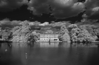 Kew Gardens with Infrared filter:Black and White Photo-108