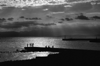 Katase-Enoshima Japan:Black and White Photo-112