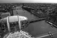 Big Ben from London Eye:Black and White Photo-68