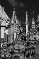 Westminster Abbey London:Black and White Photo-86