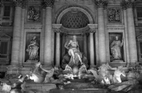 Fontana Di Trevi - Roma Italy:Black and White Photo-99