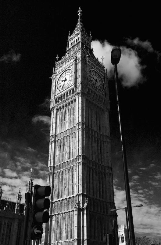Big Ben London:Black and White Photo-47