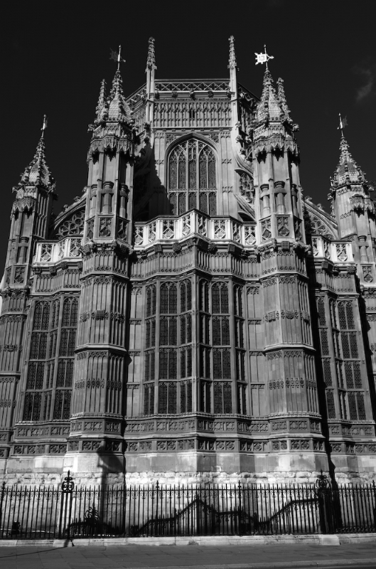 Westminster Abbey London:Black and White Photo-88