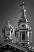 Ball and Lantern of St Paul's Cathedral:Black and White Photo-181
