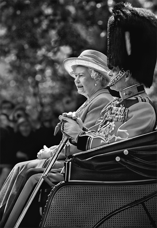 Queen Elizabeth II:Black and White Photo-192