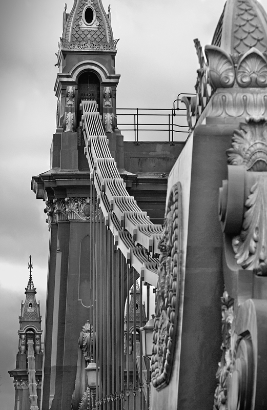 Hammersmith Bridge London:Black and White Photo-194