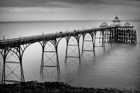 The Clevedon Pier, England 2:Black and White Photo-347