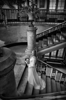Wedding Photography at Ealing Town Hall in London:Black and White Photo-349