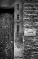The Door - Castle Combe Engliand:Black and White Photo-217