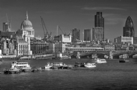 London Thames:Black and White Photo-219