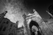 The Gate of Royal Pavilion, Brighton:Black and White Photo-224