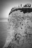 Old Harry Rocks England:Black and White Photo-233