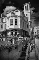 Richmond England in Summer:Black and White Photo-235