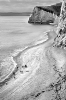Durdle Door West Cost England:Black and White Photo-237