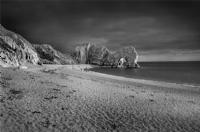 Durdle Door England:Black and White Photo-238