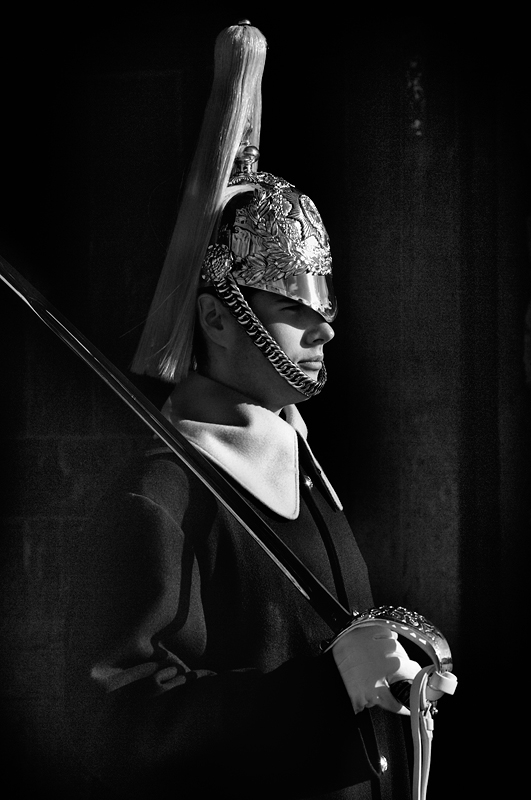 Royal Guard London:Black and White Photo-227