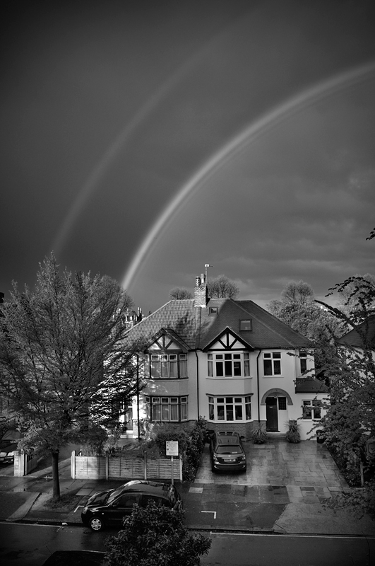 Rainbow:Black and White Photo-247