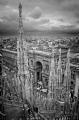 Milan Cathedral Italy:Black and White Photo-262