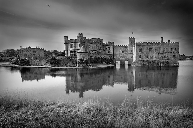 Leeds Castle:Black and White Photo-249