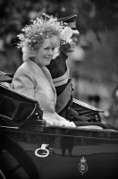 Camilla Parker Bowles and Prince William:Black and White Photo-284