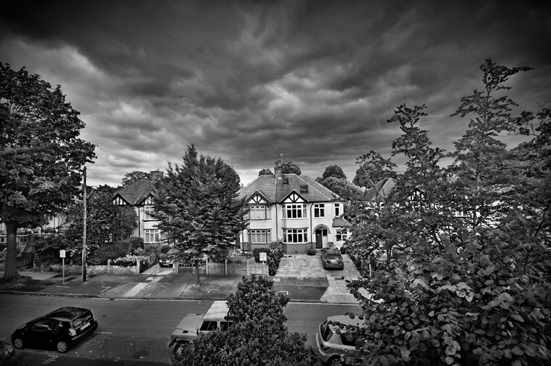 From my window, England:Black and White Photo-282