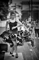 Flamenco on the street:Black and White Photo-300