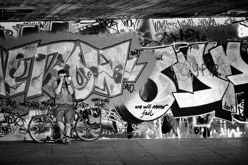 Graffiti at South Bank London:Black and White Photo-301