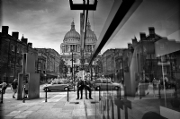 Reflection - St Paul's Cathedral London:Black and White Photo-308
