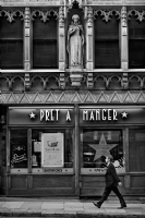 Pret a Manger London:Black and White Photo-309