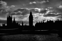 The end of 2008 - London Big Ben:Black and White Photo-356