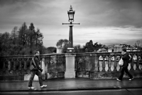 After the rain at Richmond Bridge:Black and White Photo-362