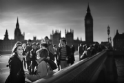 By the Westminster Bridge:Black and White Photo-374