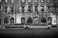 Stretched Limos in London:Black and White Photo-368