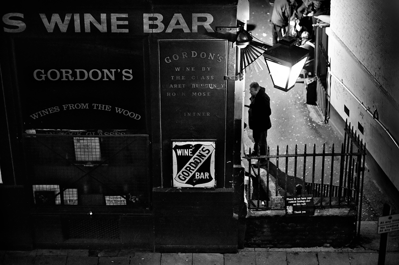 Gordon's Wine Bar in London:Black and White Photo-369