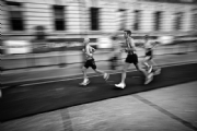 London marathon 2009:Black and White Photo-404