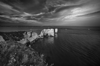 Old Harry in Dorset England:Black and White Photo-419