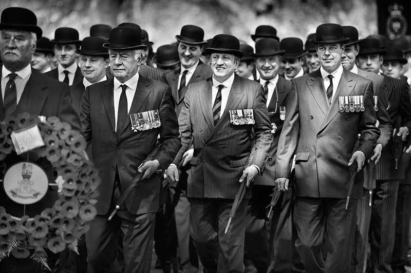 The Cavalry Old Comrades Association Parade in London's Hyde Park:Black and White Photo-414