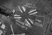 Pastel Drawing - Union Jack:Black and White Photo-432