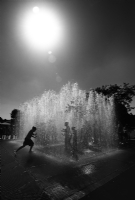 Fountains at The South Bank:Black and White Photo-420