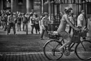 Cycle through london:Black and White Photo-455