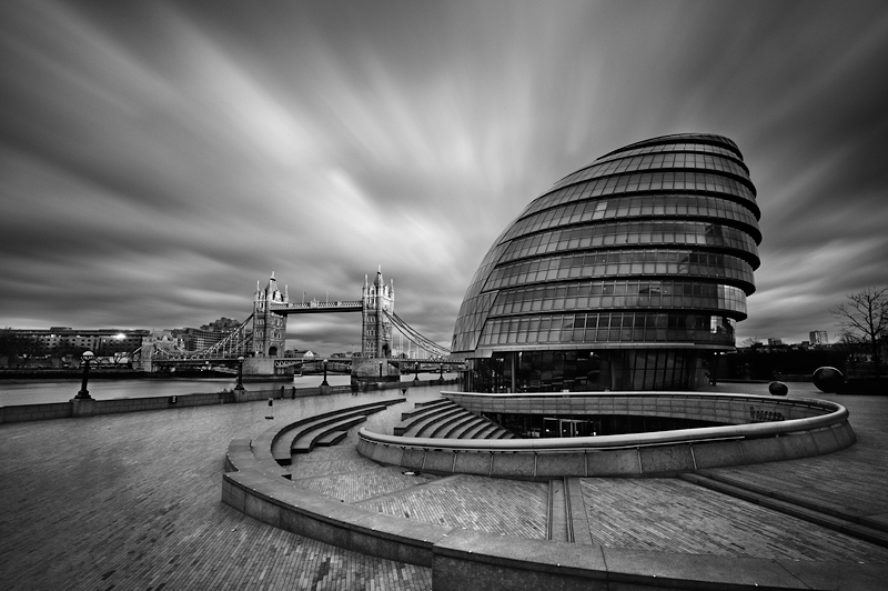 City Hall, London:Black and White Photo-488