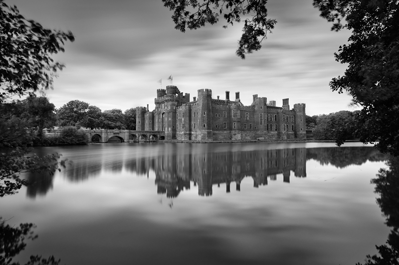 Herstmonceux Castle, East Sussex, England:Black and White Photo-604